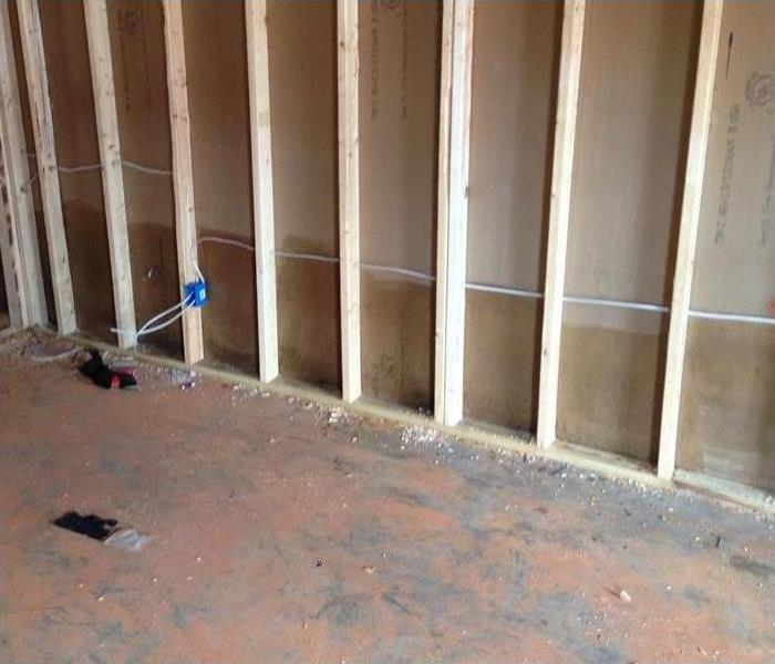 mold remediation to sheet rock in home