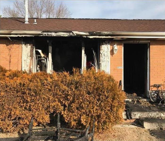 House destroyed after electrical outlet caused fire.