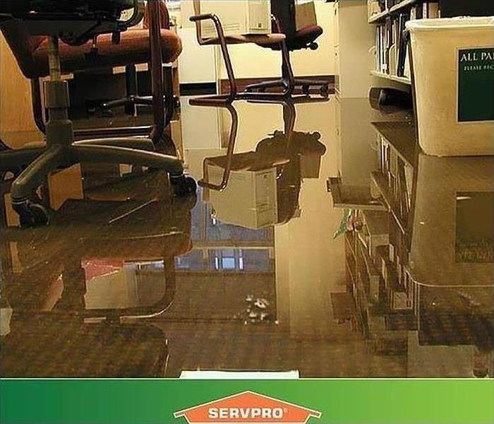 Tampa office that has standing water